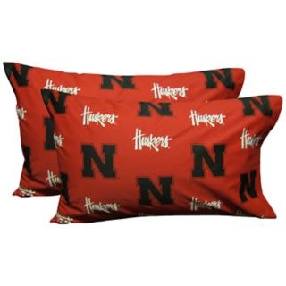 Nebraska Cornhuskers King-Size Pillowcase Set