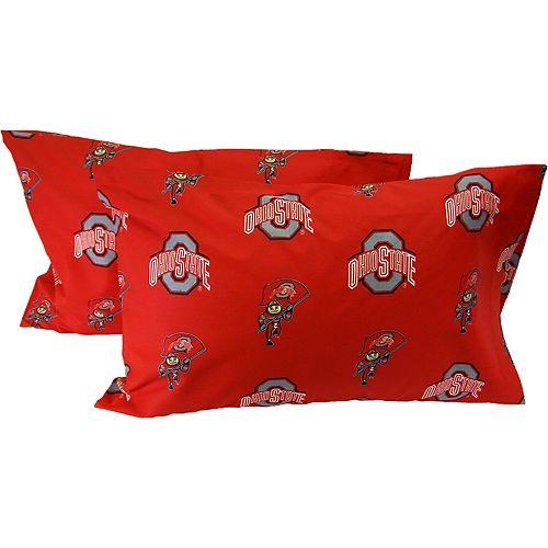 Ohio State Buckeyes King-Size Pillowcase Set