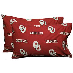 Oklahoma Sooners King-Size Pillowcase Set