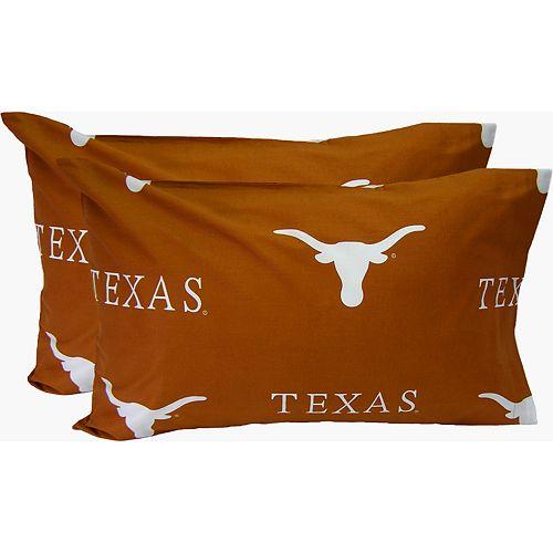 Texas Longhorns King-Size Pillowcase Set