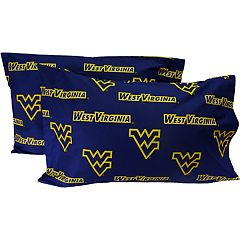 West Virginia Mountaineers King-Size Pillowcase Set