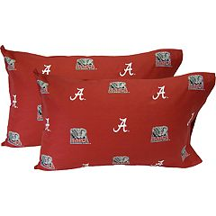 Alabama Crimson Tide King-Size Pillowcase Set