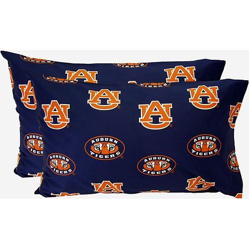 Auburn Tigers King-Size Pillowcase Set