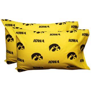 Iowa Hawkeyes King-Size Pillowcase Set