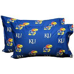 Kansas Jayhawks King-Size Pillowcase Set