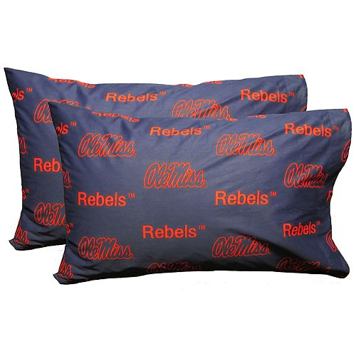 Ole Miss Rebels King-Size Pillowcase Set
