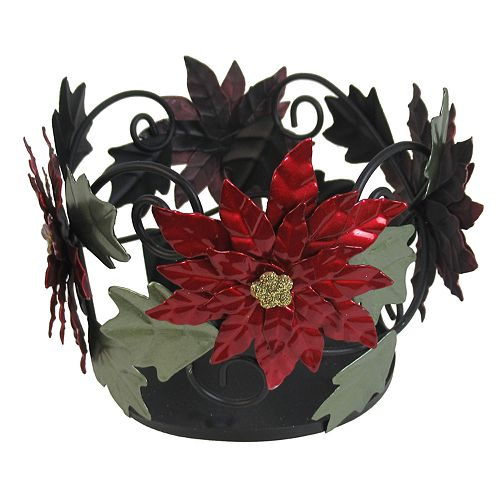 SONOMA Goods for Life™ Poinsettia Large Candle Jar Holder