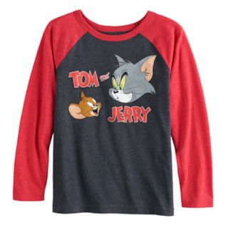 Boys 4-12 Jumping Beans® Tom and Jerry Raglan Graphic Tee