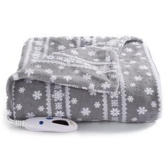 Biddeford Heated Plush Electric Throw