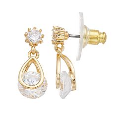Dana Buchman Cubic Zirconia Teardrop Earrings