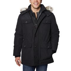 Men's Halitech Hooded Faux-Fur Hooded Field Jacket