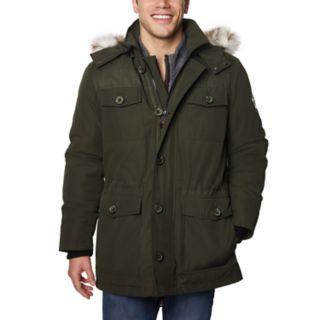 Men's Halitech Hooded Faux-Fur Hooded Field Jacket