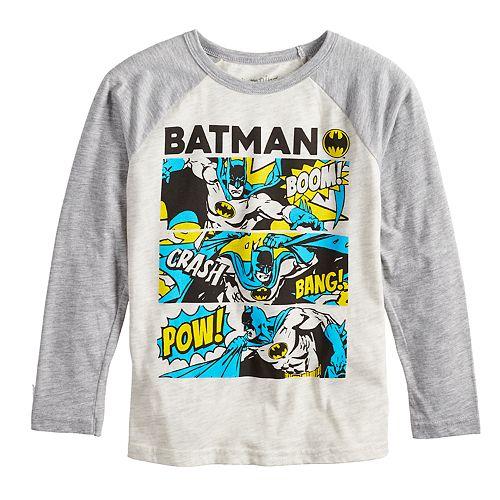 Boys 4-12 Jumping Beans® Retro DC Comics Batman Comics Raglan Graphic Tee