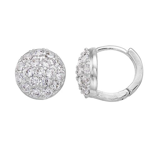 Dana Buchman Simulated Crystal Disc Hoop Earrings