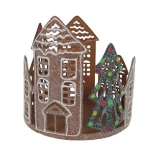 SONOMA Goods for Life? Faux Gingerbread Large Candle Jar Holder