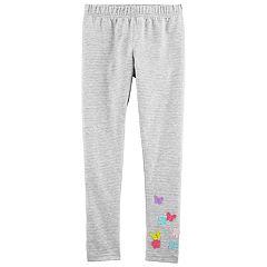 Girls 4-14 OshKosh B'gosh® Striped Flower-Applique Leggings