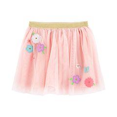 Girls 4-14 Carter's Floral Tulle Skirt