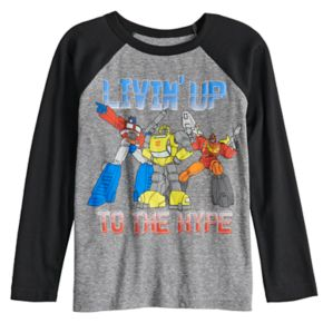 """Boys 4-12 Jumping Beans® Transformers """"Livin' Up To The Hype"""" Raglan Graphic Tee"""