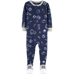 Baby Boy Carter's Sports Print Footed Pajamas