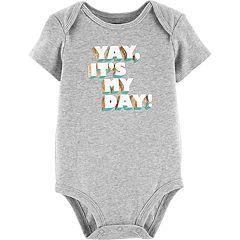 Baby Girl Carter's 'Yay It's My Day' Foiled Graphic Bodysuit
