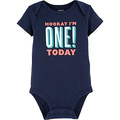 Baby Boy Carters Hooray Im One Today Graphic Tee