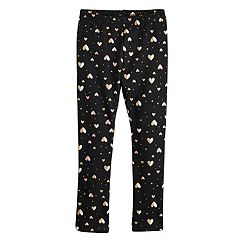 Girls 4-12 Jumping Beans® Print Plush-Lined Leggings
