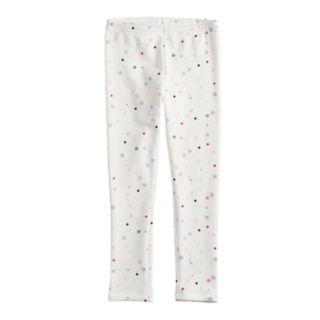 Girls 4-12 Jumping Beans® Print Plush-Lined Leggings