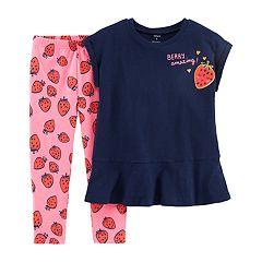 Girls 4-6x Carter's 'Berry Amazing' Tunic & Strawberry Leggings Set
