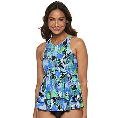 2609bfd068 Women's A Shore Fit Tummy Slimmer Tiered High-Neck Tankini Top