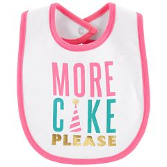 Baby Girl Carter's 'More Cake Please' Graphic Bib