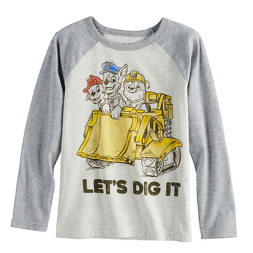 Boys 4-12 Jumping Beans® Paw Patrol Marshall, Chase & Rubble Raglan Graphic Tee