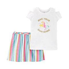 Girls 4-6x Carter's 'Make Your Own Magic' Unicorn Tunic & Floral Leggings Set