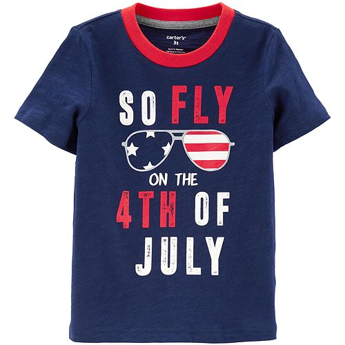 Baby Boy Carter's So Fly 4th Of July Slub Tee