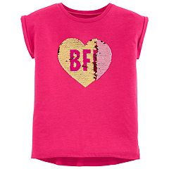 Girls 4-14 Carter's Flip-Sequin Heart Graphic Tee