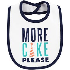 Baby Boy Carter's 'More Cake Please' Graphic Bib