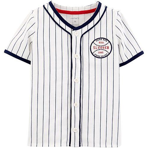 Baby Boy Carter's Americana Baseball Button-Front Shirt