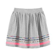 Girls 4-14 Carter's Sequined Fringe Skirt