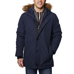 Men's Halitech Hooded Faux-Fur Hooded Parka