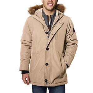Men's Halitech Hooded Faux-Fur Hooded Parka