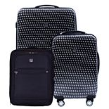 FUL Metal Chain Swirl 3-Piece Luggage Set
