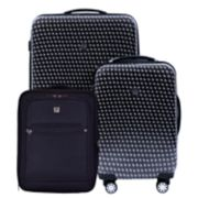 FUL Metal Chain Swirl 3-Piece Luggage Set