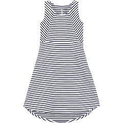 Girls 4-14 Carter's Striped Hi-Low Dress