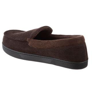 Men's isotoner Luke Boxed Corduroy Moccasin Slippers