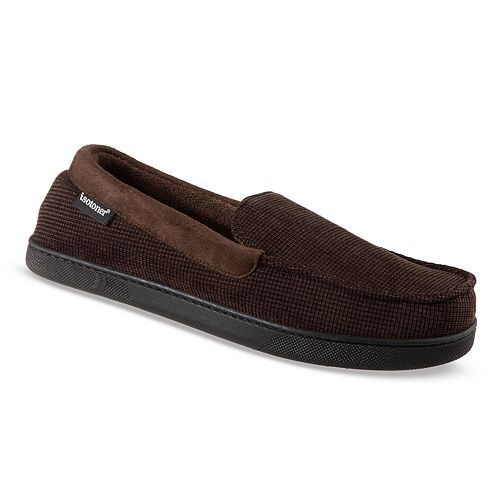Men's isotoner Luke Boxed Corduroy Moccasin Slippers