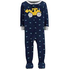 d9b882621 Toddler Boy Carter's Construction Truck Footed Pajamas