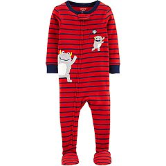 Toddler Boy Carter's Monster Baseball Footed Pajamas