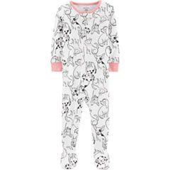 Baby Girl Carter's Dog Print Footed Pajamas
