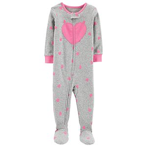 Toddler Girl Carter's Heart Print Footed Pajamas