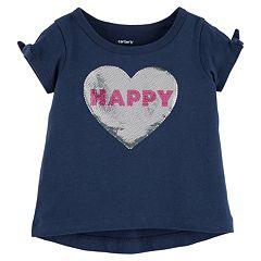 Baby Girl Carter's 'Happy' Sequin Tee