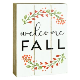 "Belle Maison ""Welcome Fall"" Box Sign Art"
